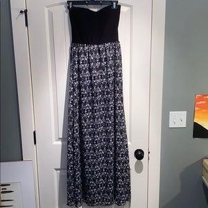 Strapless dress!